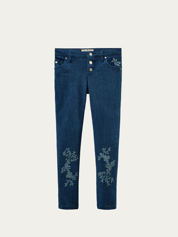 DENIM ESTAMPADO FLORES
