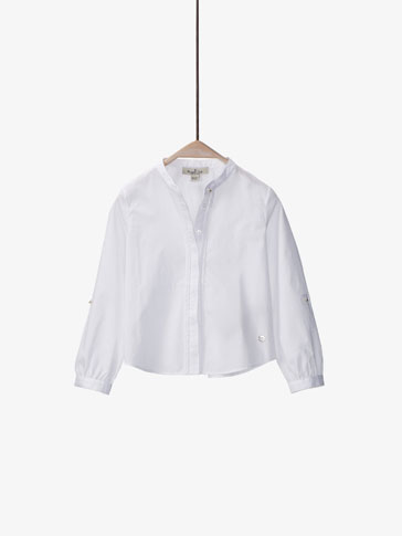 WHITE SHIRT WITH BRAIDED DETAIL