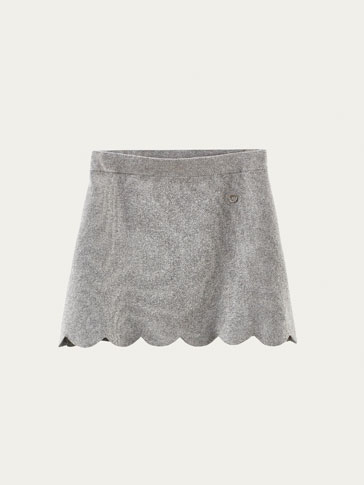 KNIT SKIRT WITH SCALLOPED HEM