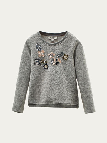 SWEAT BRODERIE FLORALE