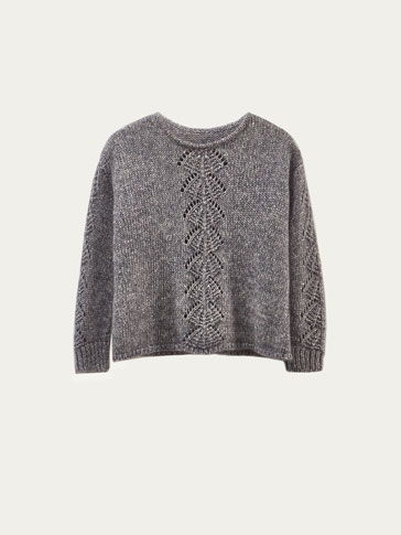LIMITED EDITION MOHAIR SWEATER WITH OPEN KNIT DETAIL
