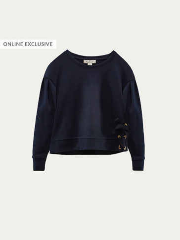 SWEATSHIRT WITH TIE DETAIL