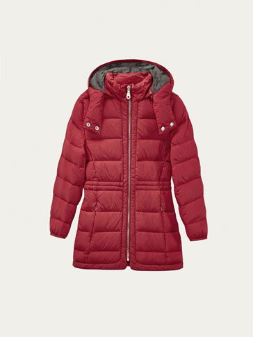 DOWN JACKET WITH HOOD DETAIL