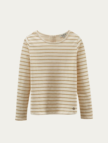 GOLD STRIPED T-SHIRT