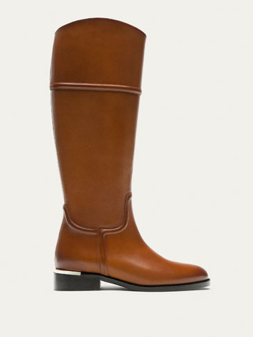 TAN NAPPA LEATHER BOOTS