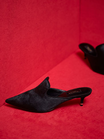 LIMITED EDITION BLACK LEATHER MULES