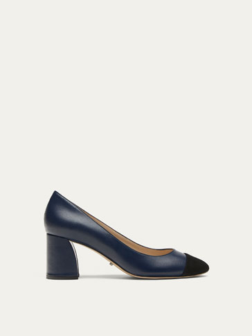 BLUE NAPPA LEATHER COURT SHOES