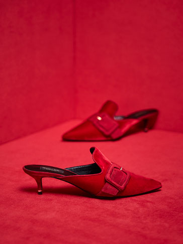 LIMITED EDITION RED VELVET MULES