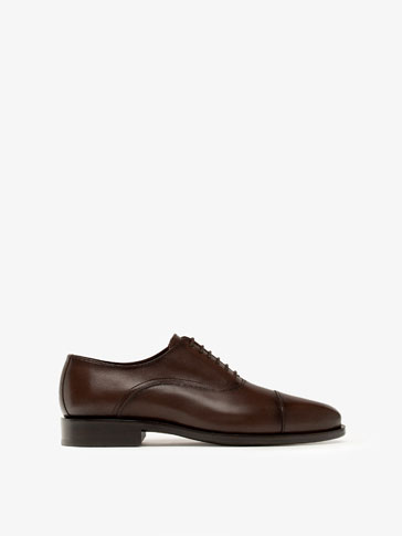 BROWN BALMORAL OXFORD SHOES