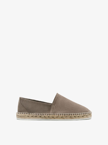 PERFORATED LEATHER ESPADRILLES