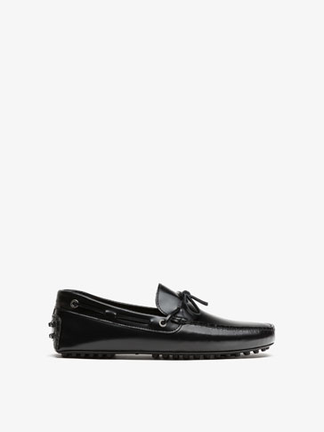 BLACK ANTIK LEATHER LOAFERS