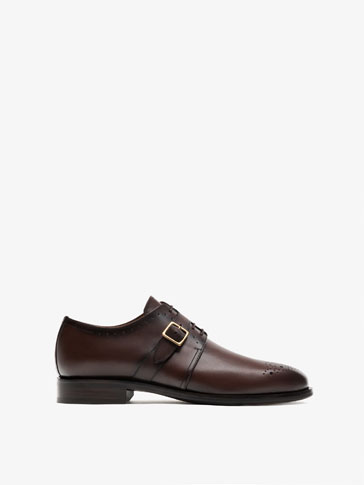 SMART LEATHER BLUCHERS WITH BUCKLE