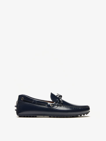 BLUE ANTIK LEATHER KIOWA LOAFERS