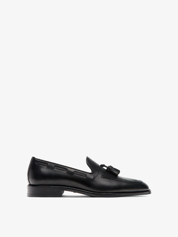 SMART BLACK LEATHER LOAFERS