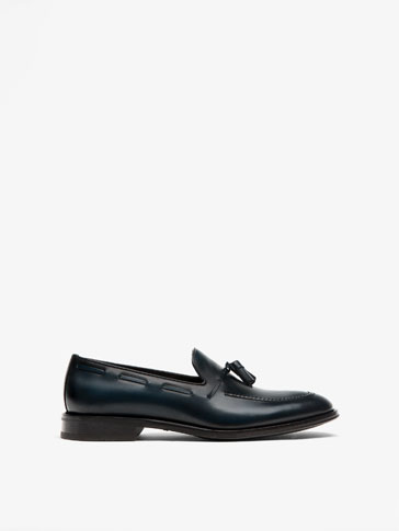 SMART BLUE LEATHER LOAFERS