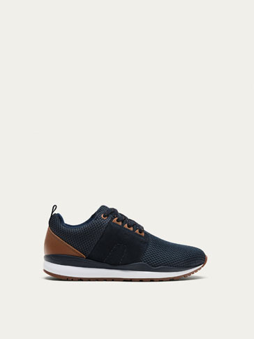 BLUE TECHNICAL FABRIC SNEAKERS