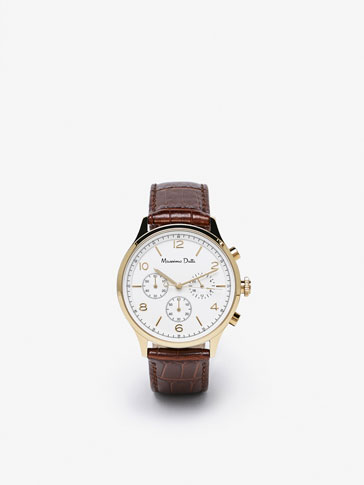 CHRONO WATCH WITH DOUBLE STRAP