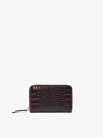 MOCK-CROC LEATHER WALLET