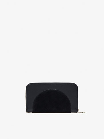 CONTRAST LEATHER WALLET