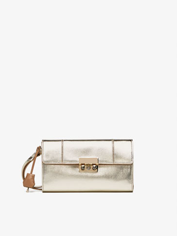 GOLDEN LEATHER CLUTCH