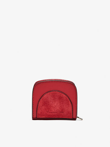 CONTRAST LEATHER MINI TOILETRY BAG