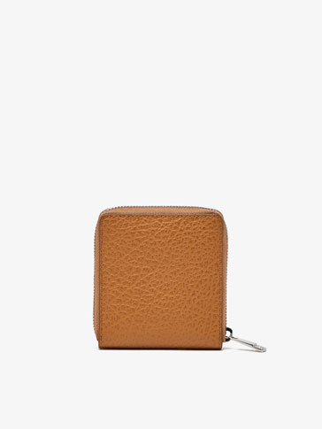 PLAIN LEATHER WALLET CARD HOLDER