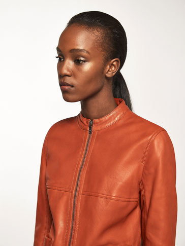 ORANGE NAPPA JACKET