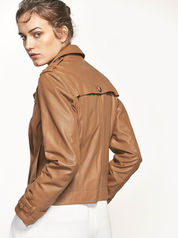 BLOUSON STYLE TRENCH NAPPA BEIGE