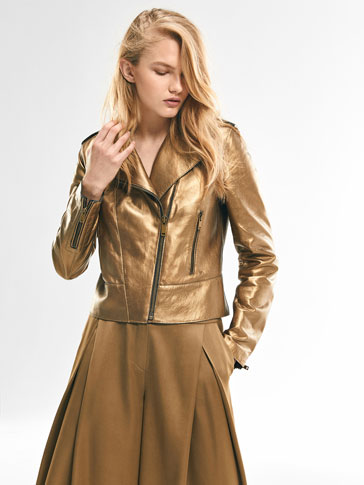 LIMITED EDITION GOLD BIKER JACKET