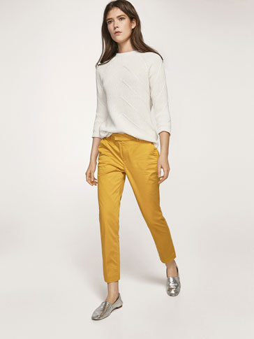 SATEEN CHINO TROUSERS
