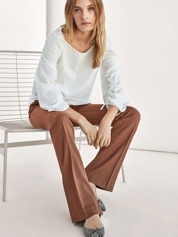 FLARED SMART TROUSERS