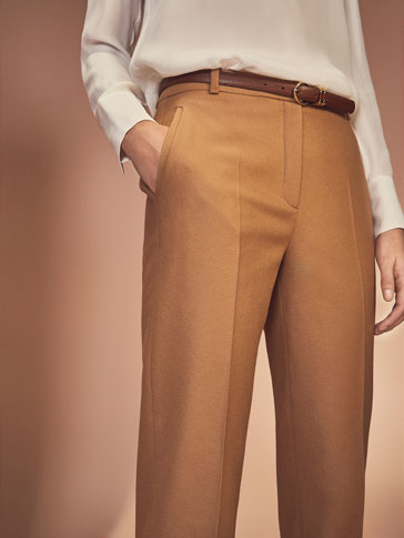 WOOL CAMEL COLOUR TROUSERS