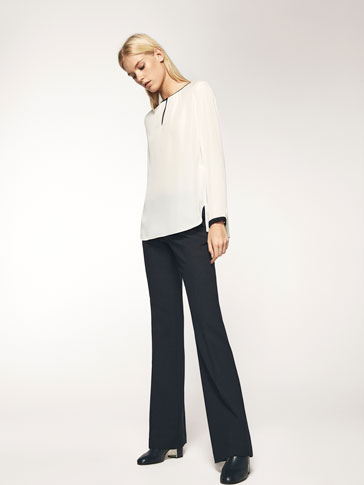 NAVY BLUE BELL-BOTTOM TROUSERS