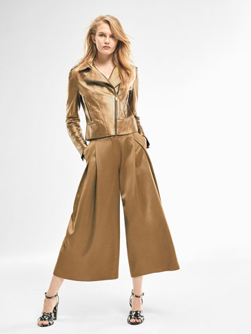 LIMITED EDITION PLEAT-FRONT CULOTTES