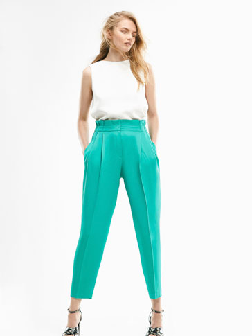 LIMITED EDITION TURQUOISE CREPE TROUSERS