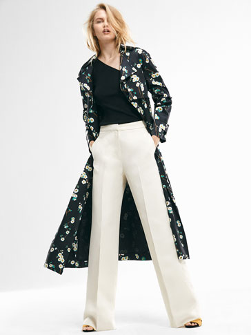 LIMITED EDITION ECRU PALAZZO TROUSERS