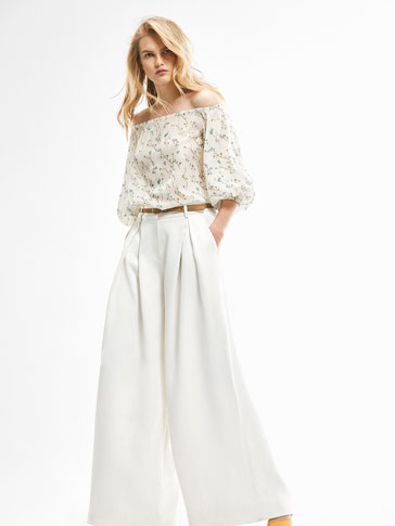 LIMITED EDITION WHITE PALAZZO TROUSERS