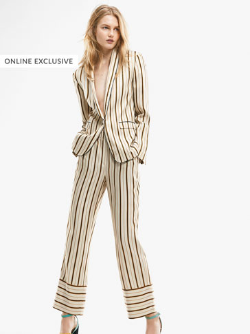 LIMITED EDITION STRIPED SUIT TROUSERS