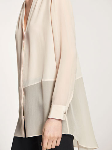 LONG BLOUSE WITH TRANSPARENCIES