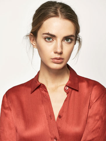 CRINKLED SILK SHIRT