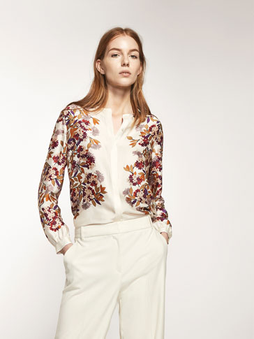 POSITIONAL FLORAL PRINTED SHIRT