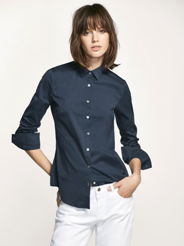 PLAIN STRETCH SHIRT
