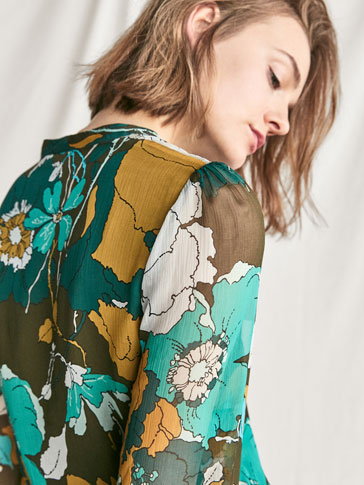 SILK FLOWER-PRINT SHIRT