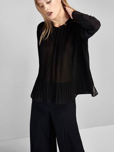 OMBRÉ SHIRT WITH PLEAT DETAIL