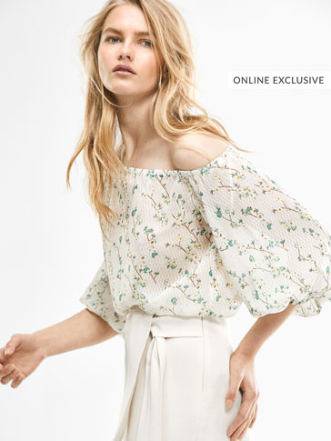LIMITED EDITION SILK FLORAL JACQUARD BLOUSE