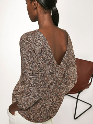 SWEATER WITH LOW CUT BACK