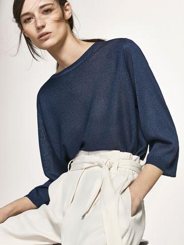 قميص صوفي طراز كاب بتصميم غير متماثل