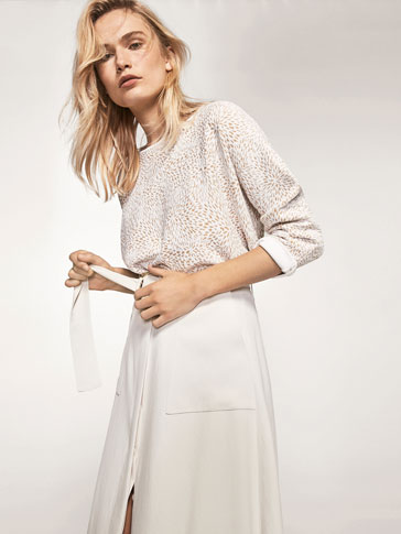 CAPE-STYLE JACQUARD SWEATER