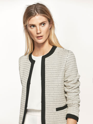 JACQUARD TEXTURED JACKET