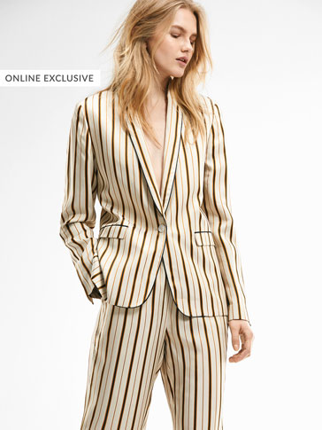 LIMITED EDITION STRIPED SUIT BLAZER